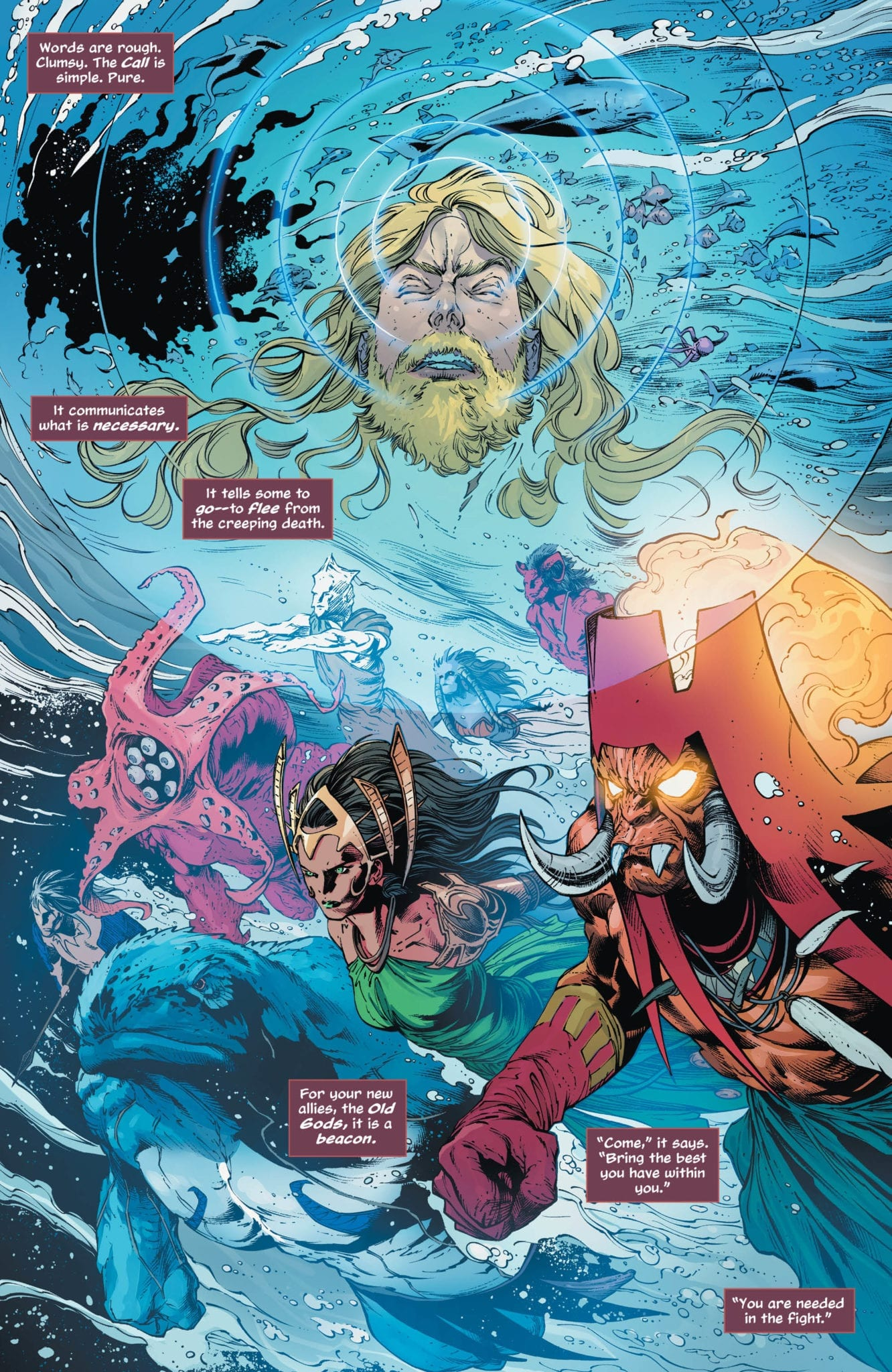 Aquaman sends out the Call