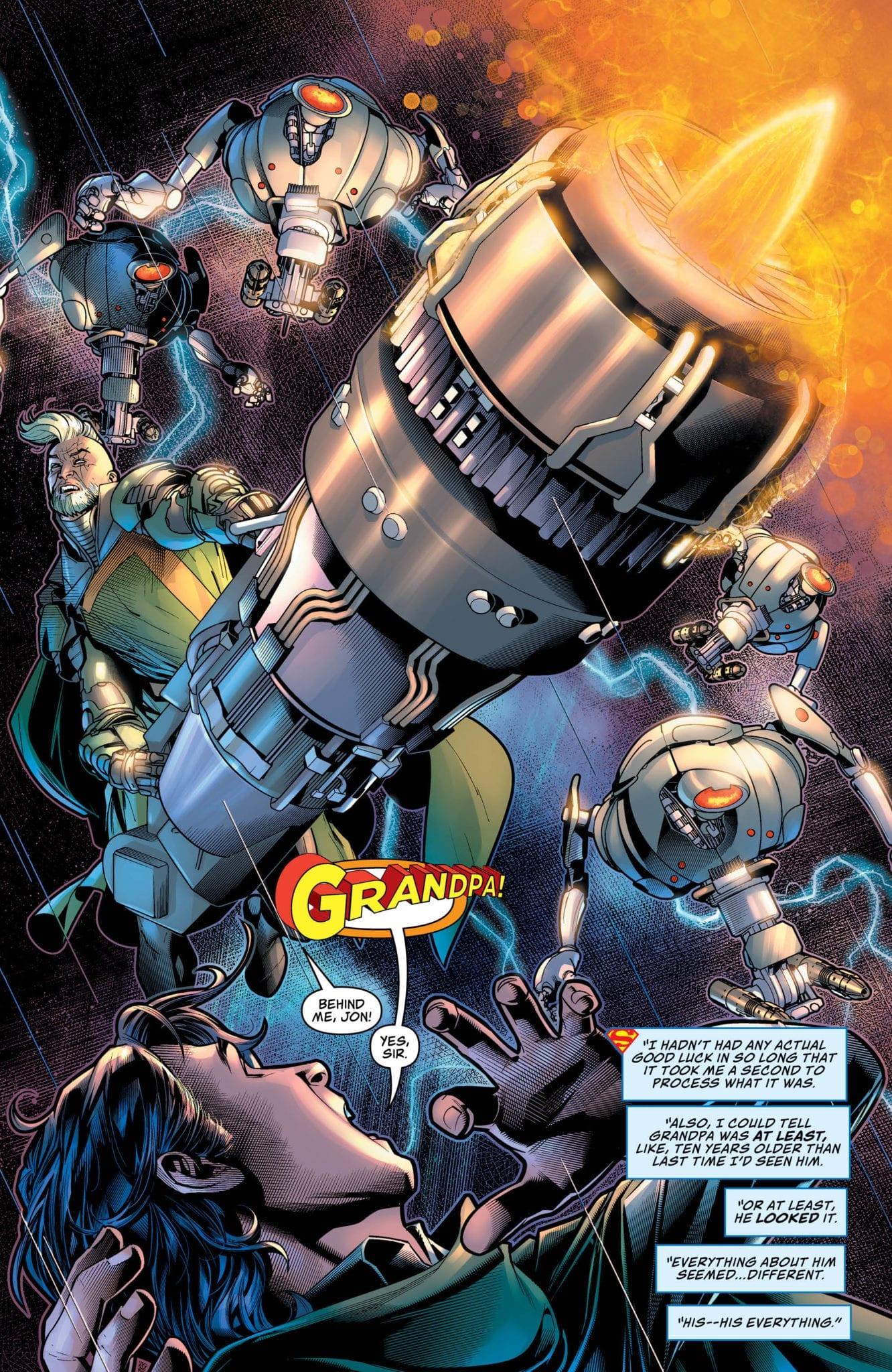 Jor-El saving Superboy