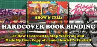 Cartoonist Kayfabe: Show and Tell! Hardcover Book Binding: Jamie Hewlett's Fireball, Slash Maraud, and Street Angel