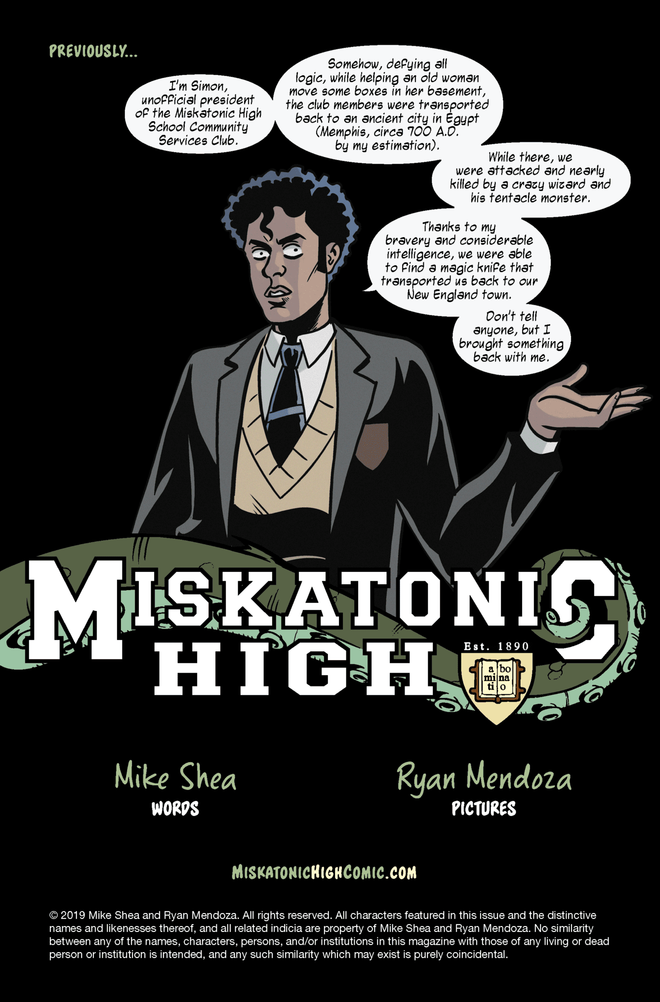 Miskatonic High #2 Page Sample