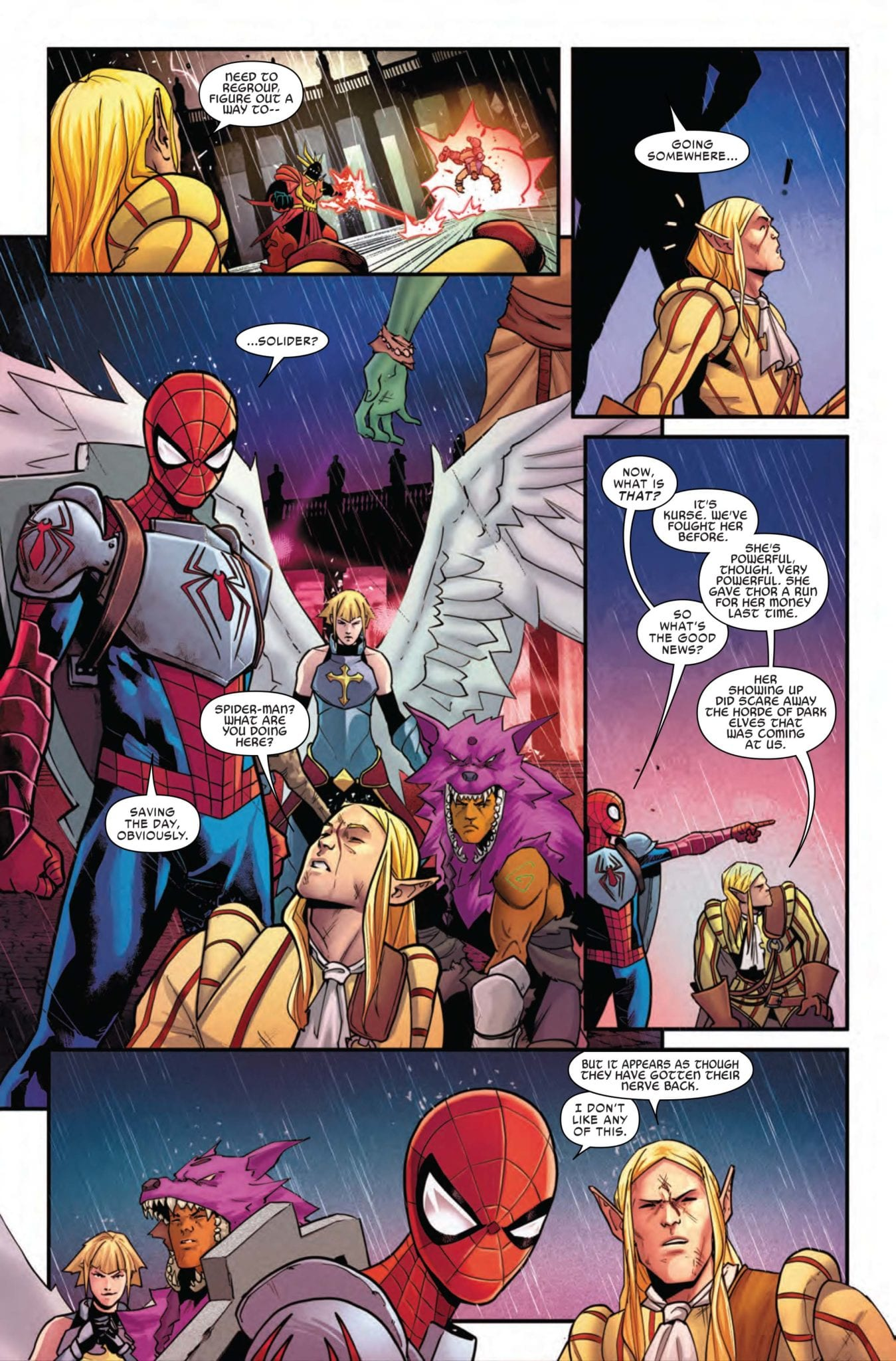 spider-man league of realms marvel comics exclusive preview war of the realms