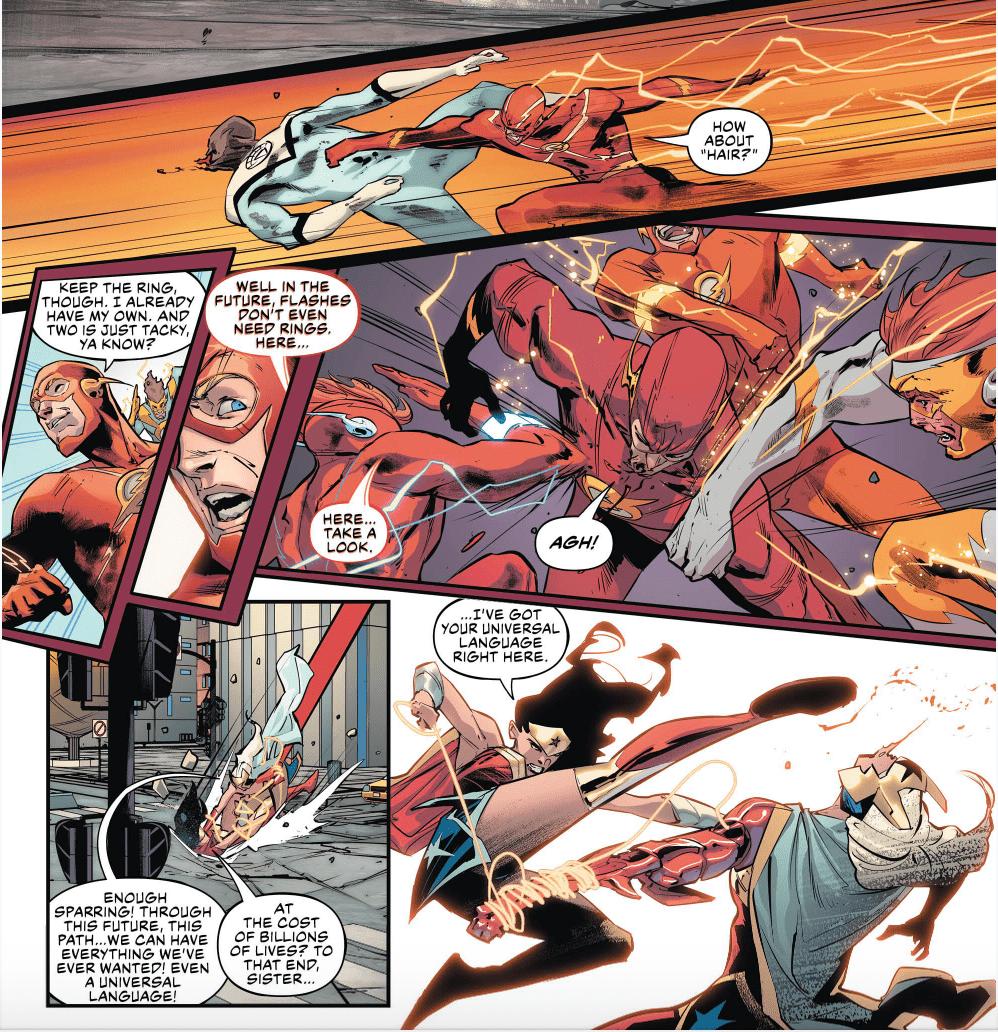 Justice League #25, Flash, Wonder Woman