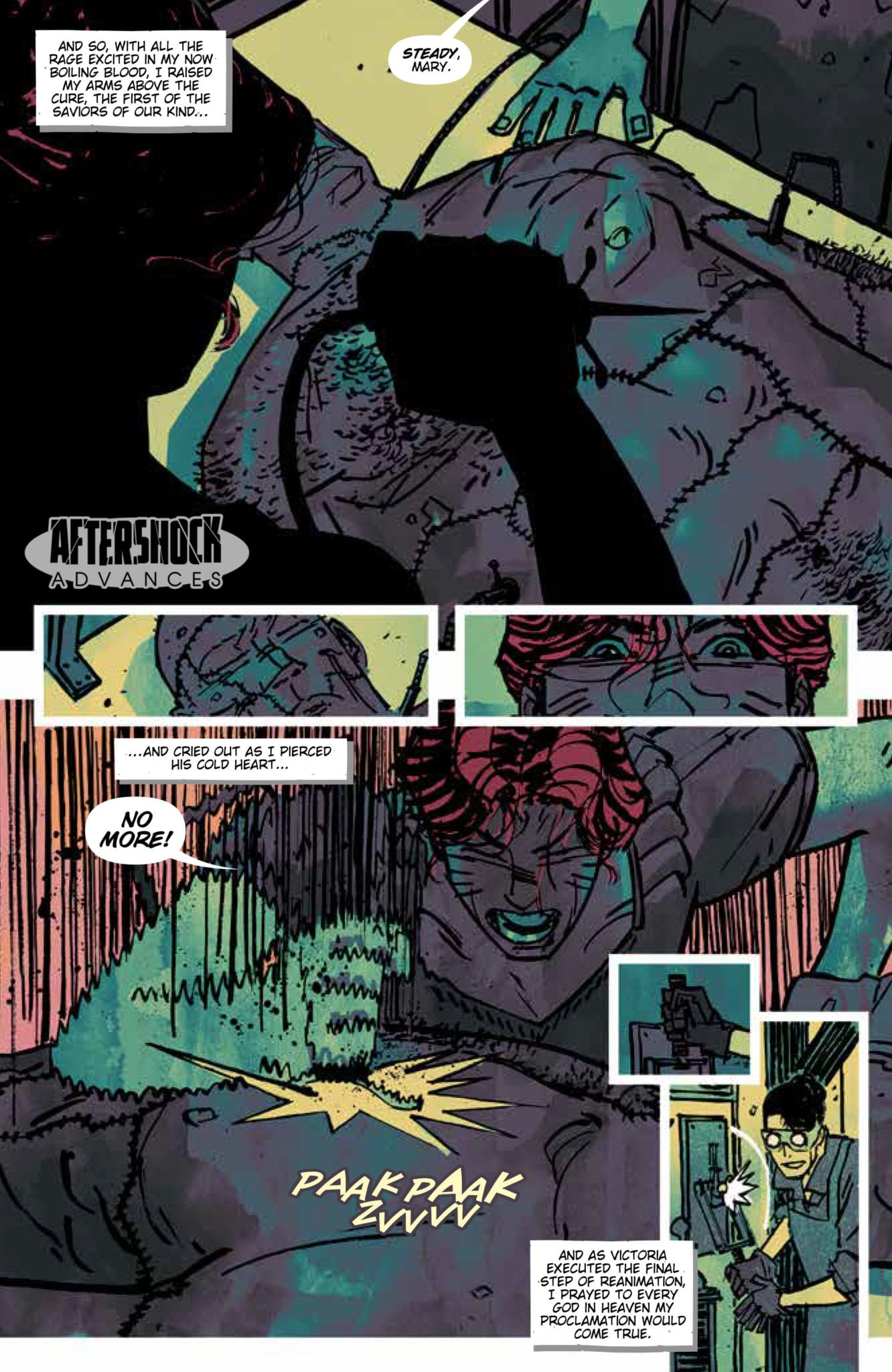 mary shelley monster hunter #2 exclusive advance preview aftershock comics