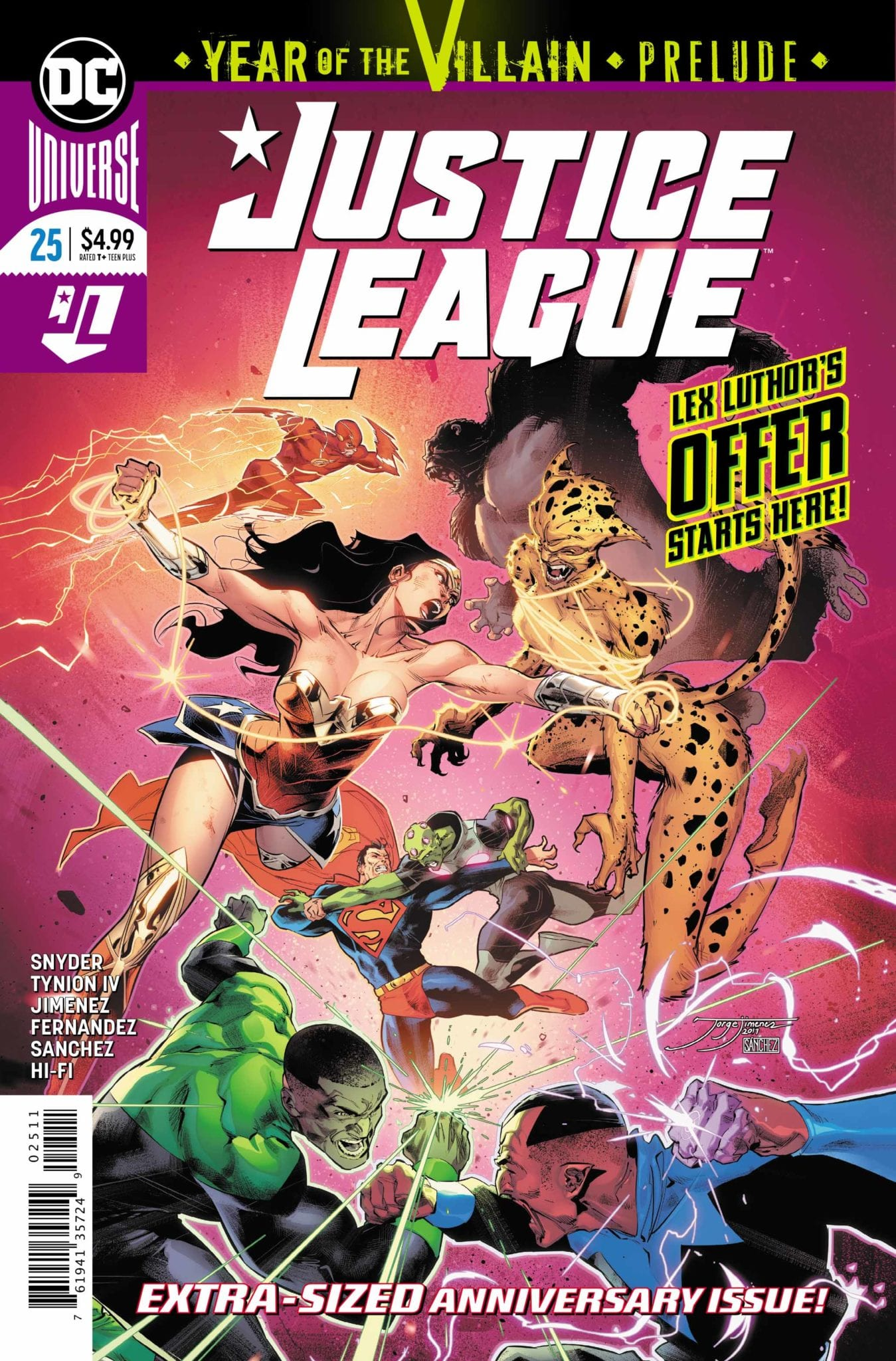 Justice League #25 Cover