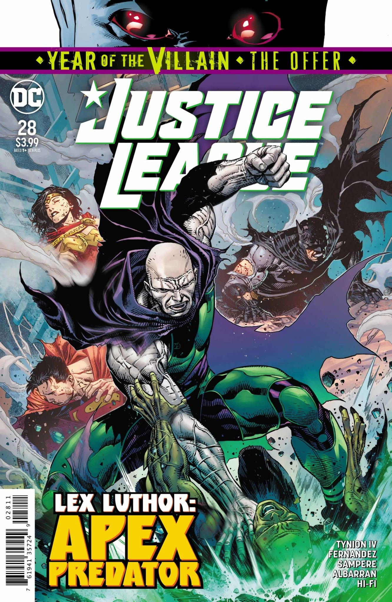 Justice League #28 Cover Lex Luthor
