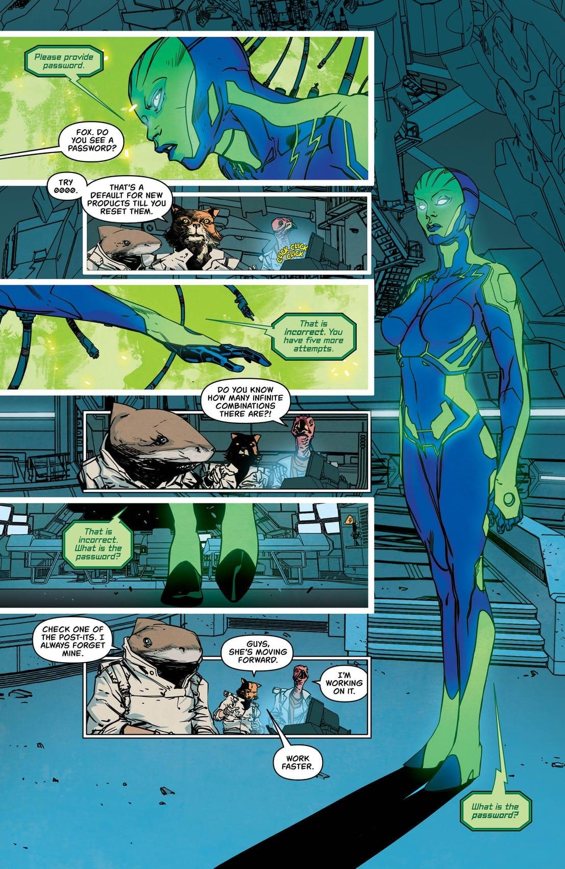 Batgirl 37 Sample Page