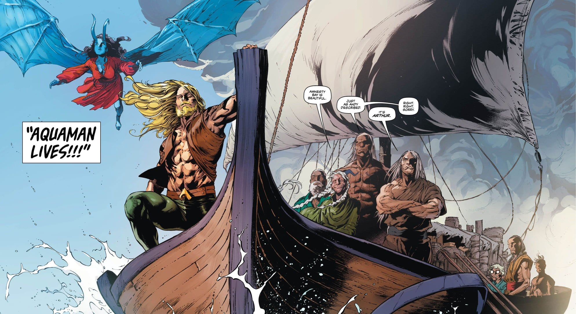 Review: Immigrants From The Sea Arrive In Amnesty Bay In AQUAMAN #50