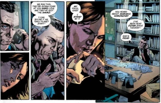 Perry White speaks with Lois Lane