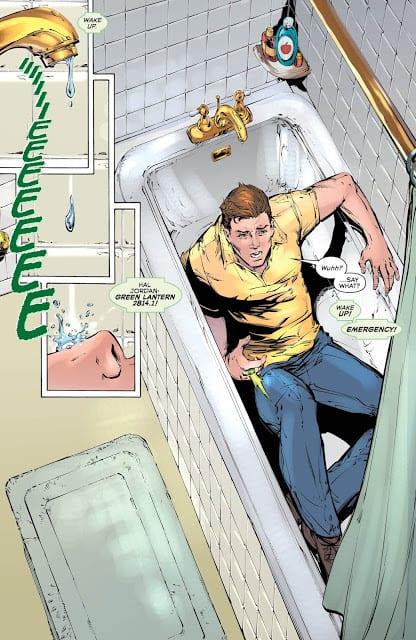 Hal wakes up in a bathtub