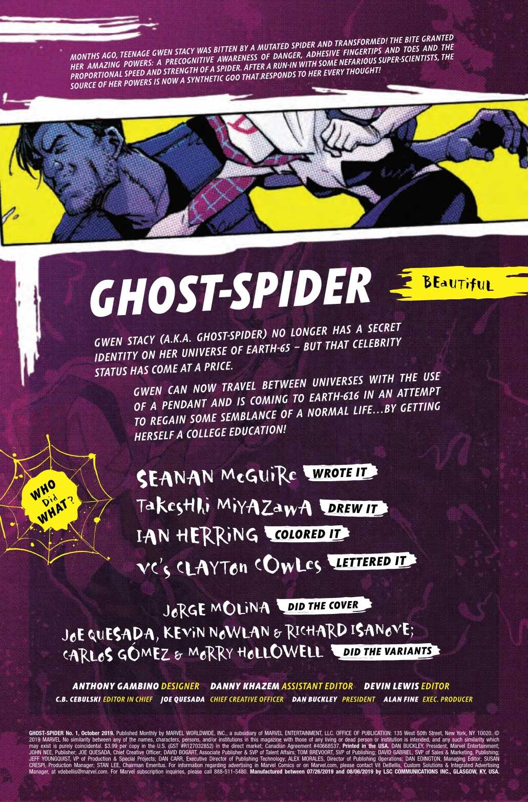 Review: GHOST-SPIDER #1 And Why Marvel Shouldn't Have Renumbered Spider-Gwen 1
