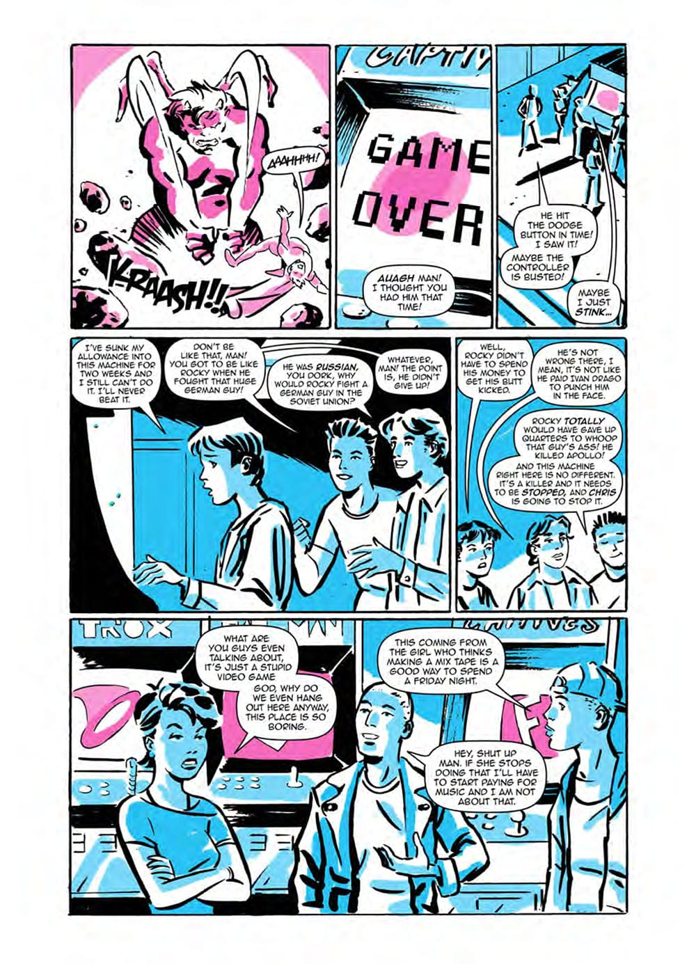 HEADLESS Issue One Page Seven: Scout Comics