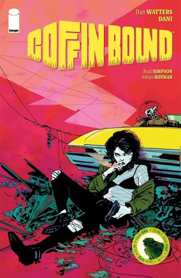COFFIN BOUND #1 Bursts, Blood Stained, Into The World