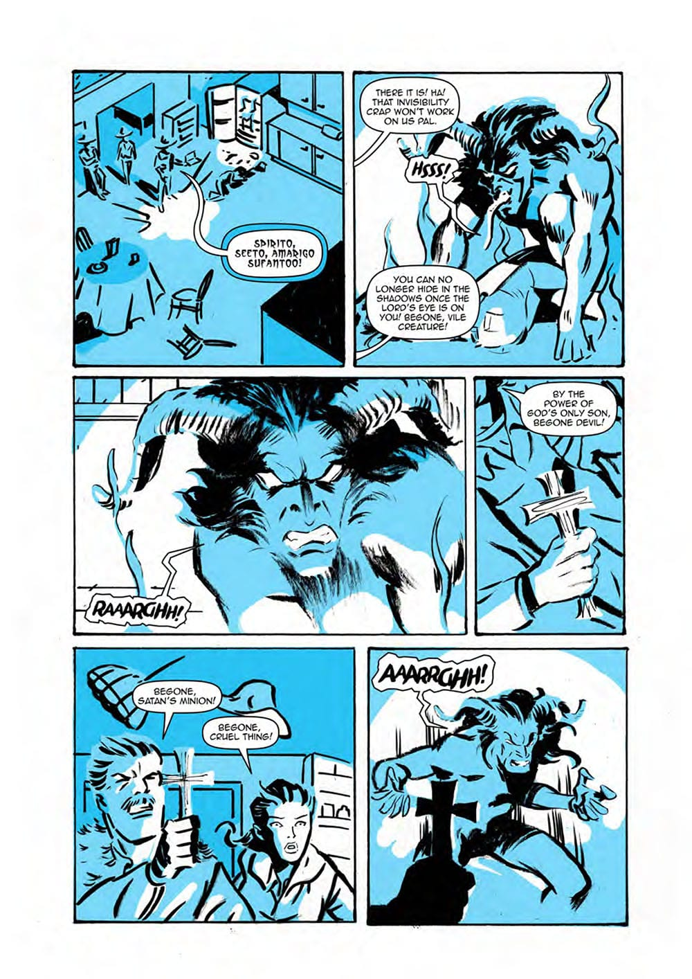 HEADLESS Issue One Page Four: Scout Comics