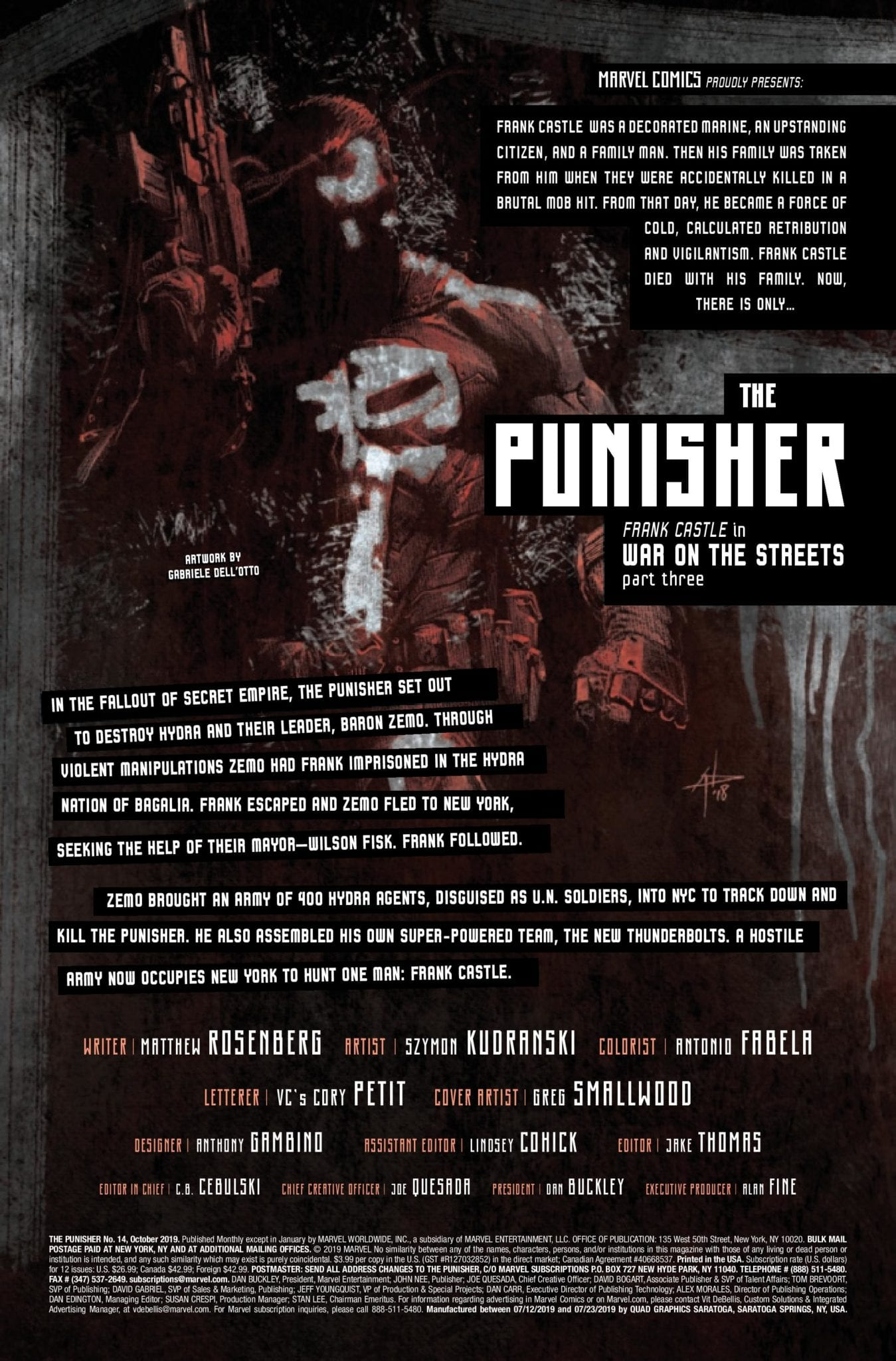 Marvel Comics Exclusive Preview: THE PUNISHER #14 1