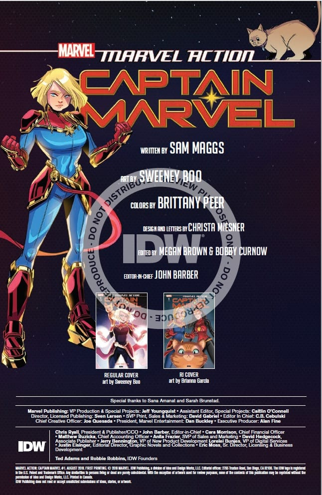 How Carol Deals with a Swarm in MARVEL ACTION: CAPTAIN MARVEL #1 3