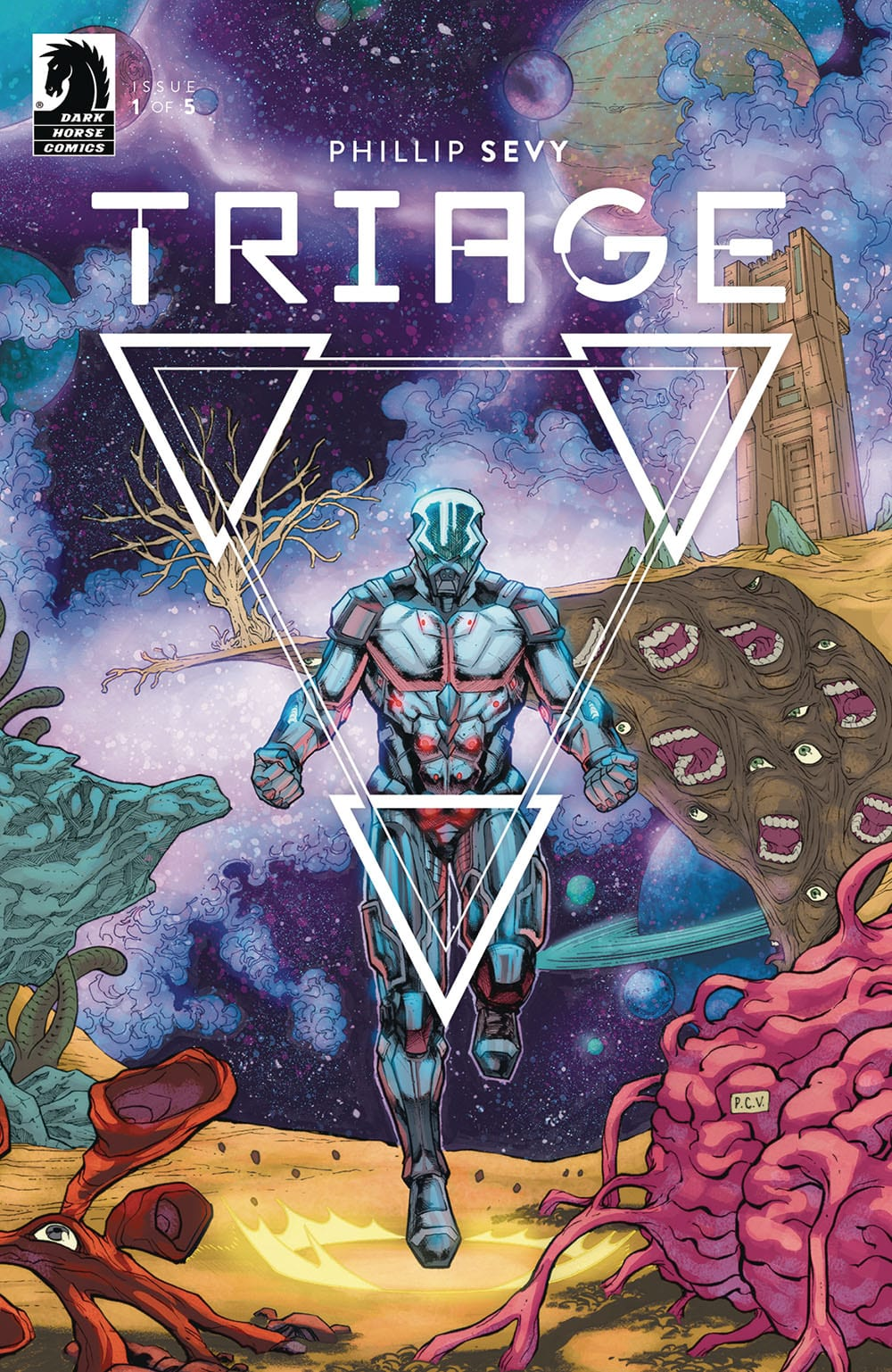 Triage #1: Cover by Phillip Sevy, Dark Horse Comics