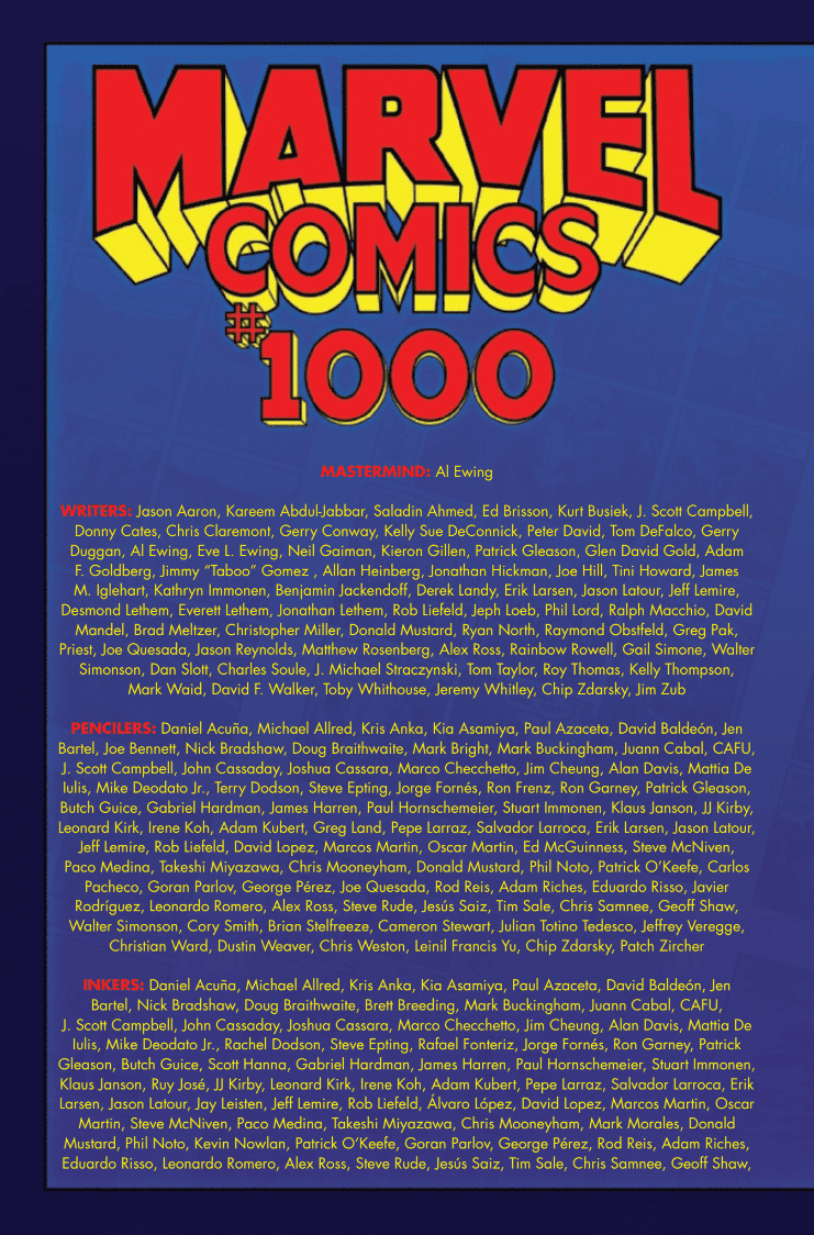 Review: MARVEL COMICS #1000 Celebrates History While Beginning a New Mystery 4