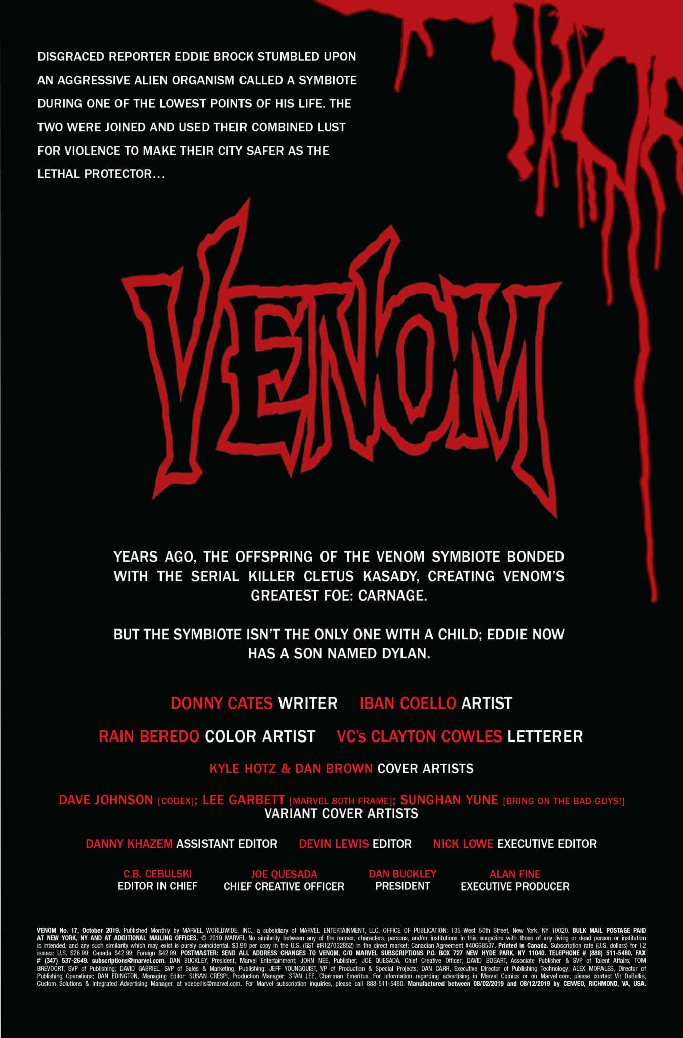 venom #17 marvel comics exclusive preview