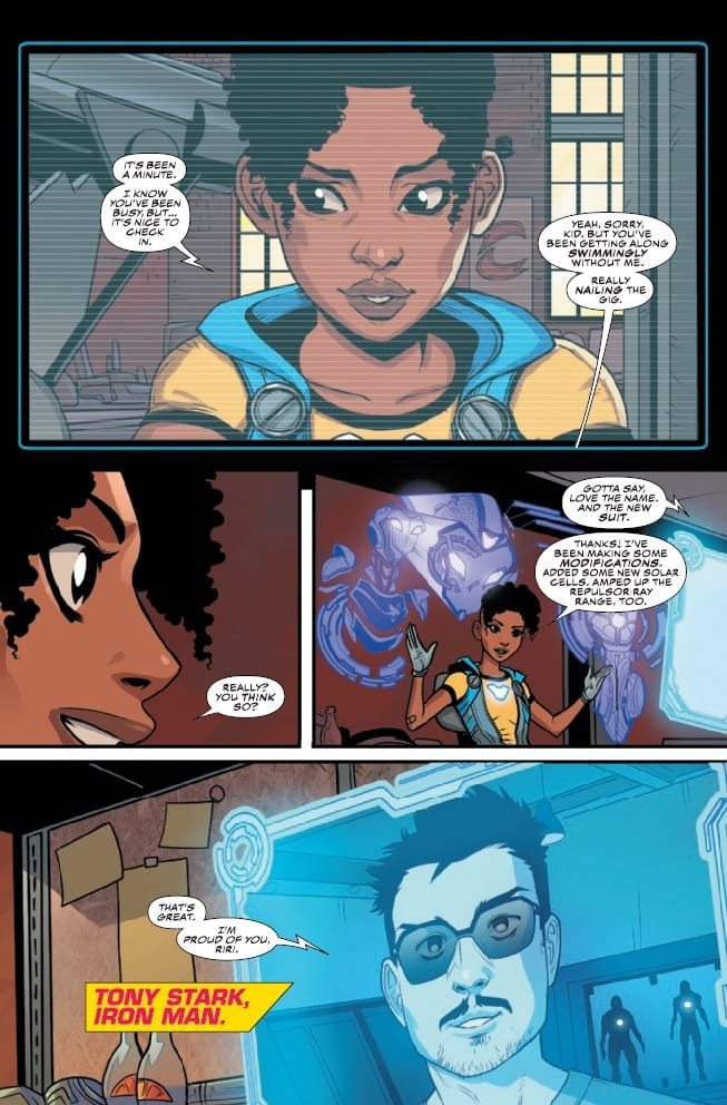 Review: How IRONHEART #9 Brings Two Tech Geniuses Together 3