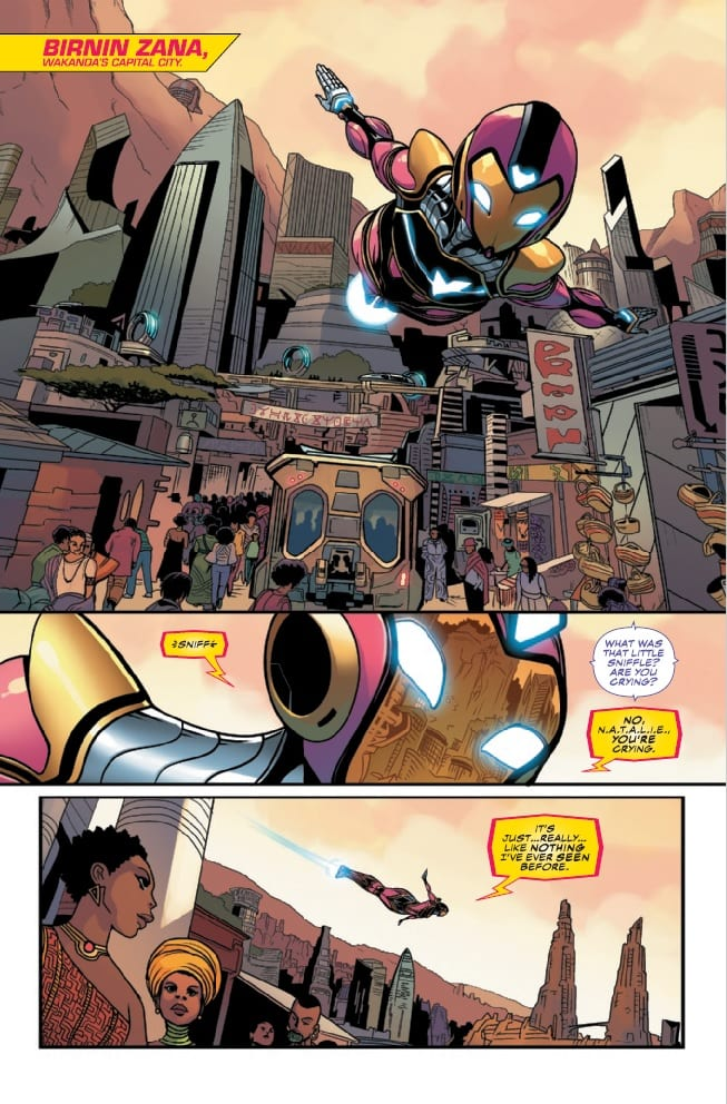 Review: How IRONHEART #9 Brings Two Tech Geniuses Together 5