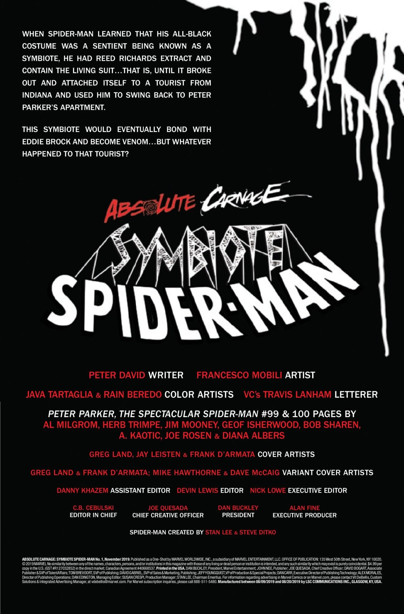 Exclusive Preview: ABSOLUTE CARNAGE: SYMBIOTE SPIDER-MAN #1 - Who Is Leonard Elkhart? 2