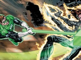 Hal fights the Qwa-Man in THE GREEN LANTERN #12