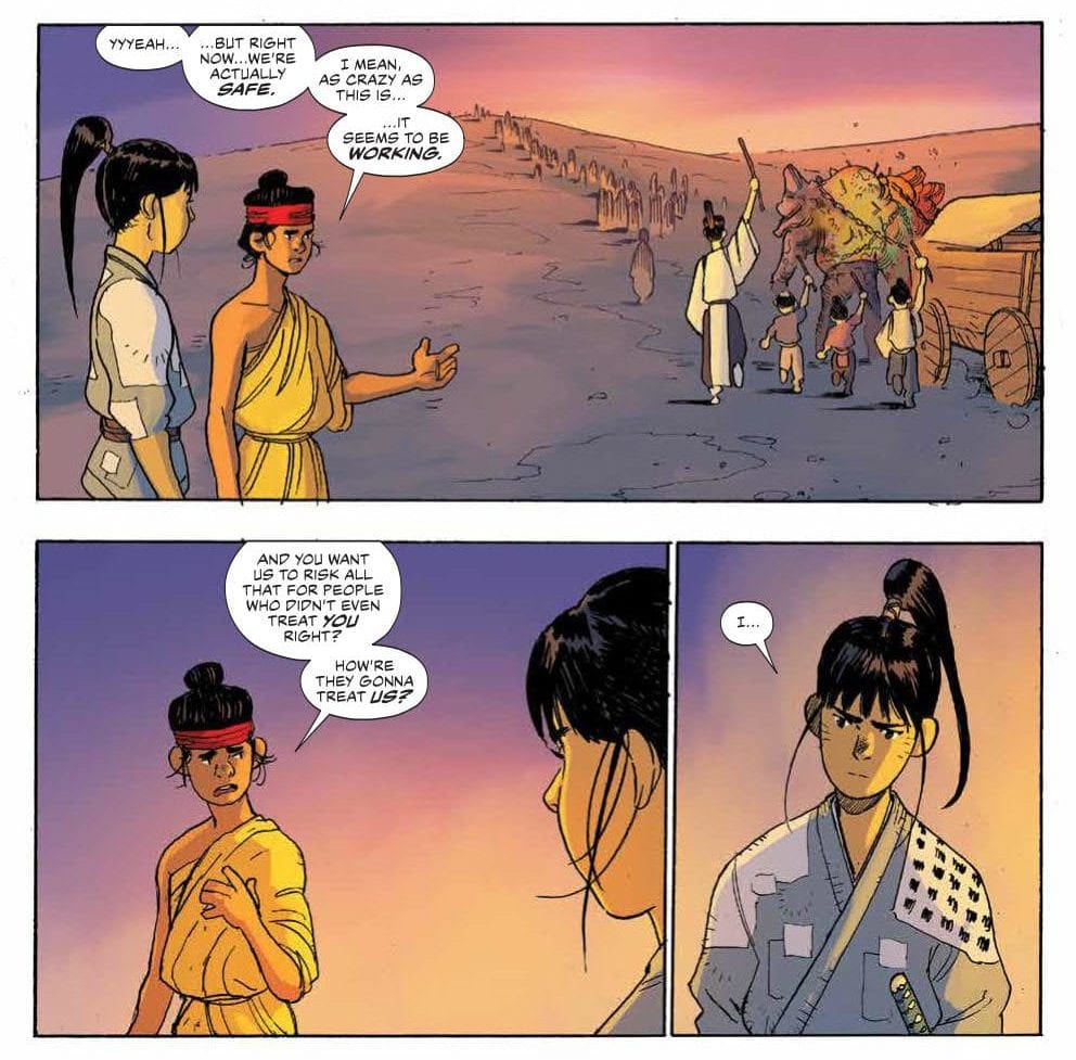 Hana questions why she fights for Ronin Island
