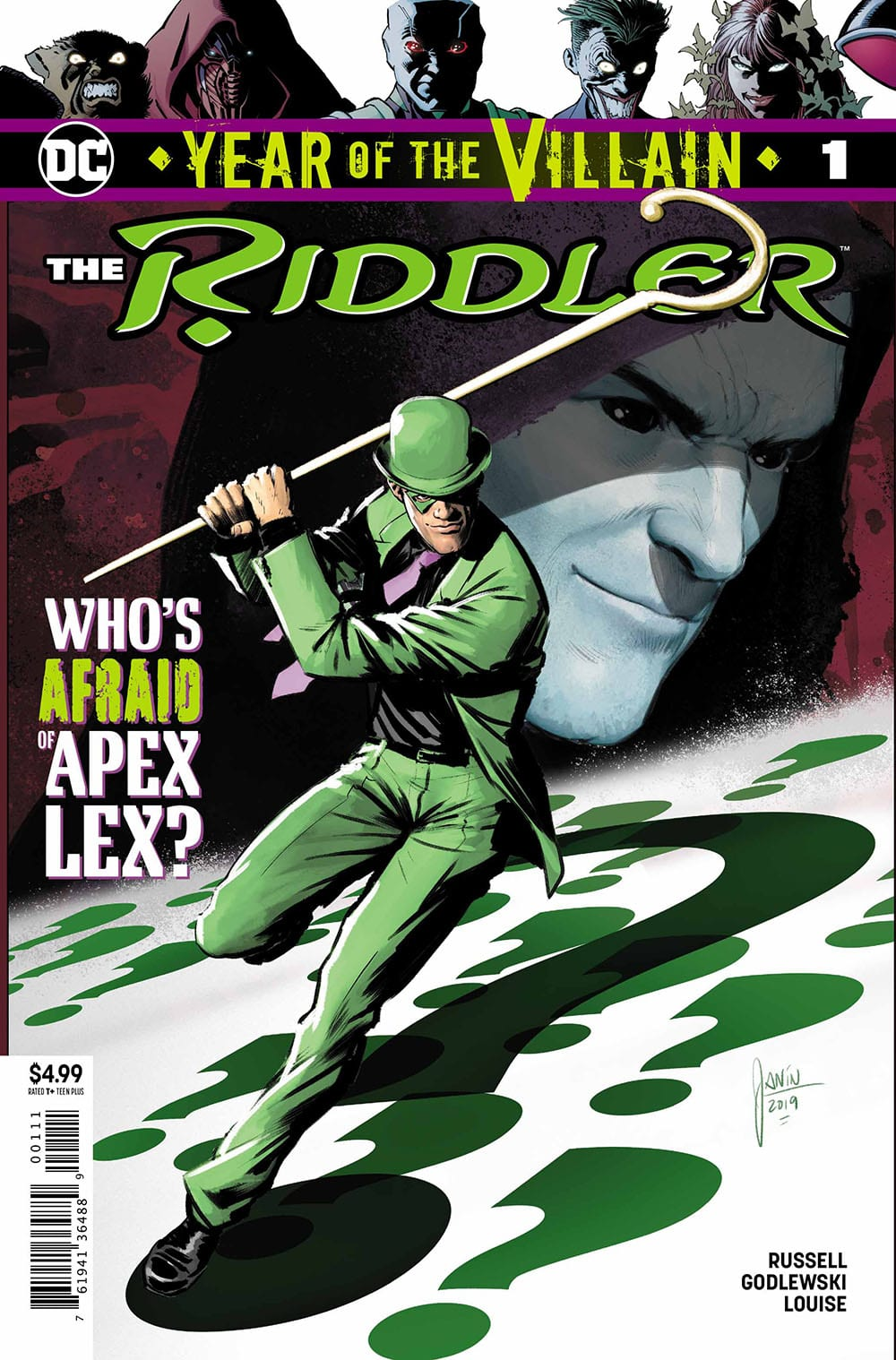 The Riddler: Year of the Villain Cover - DC Comics