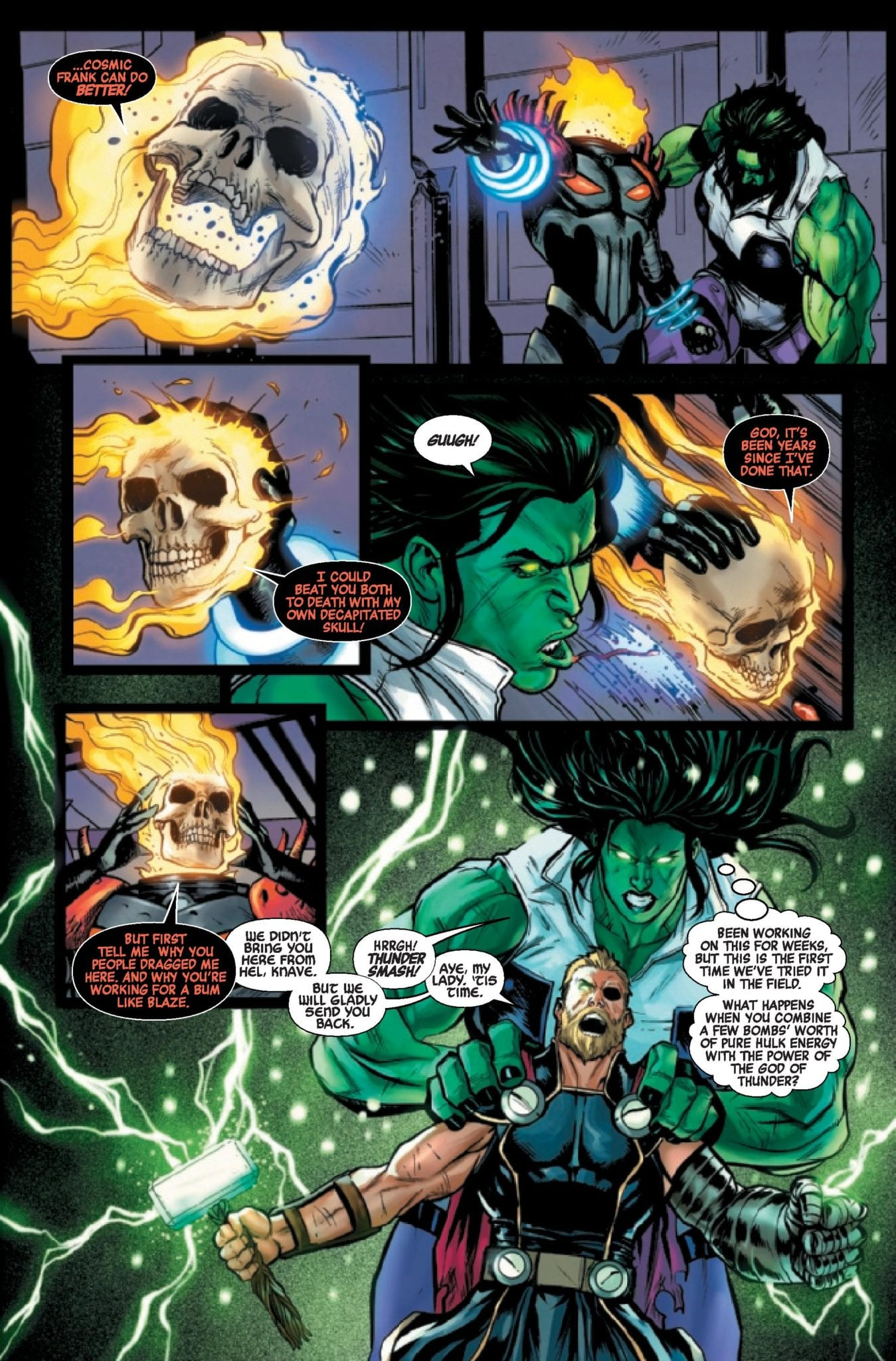 Cosmic Ghost Rider Gets Gamma Bombed In Our AVENGERS #24 Exclusive Preview 1