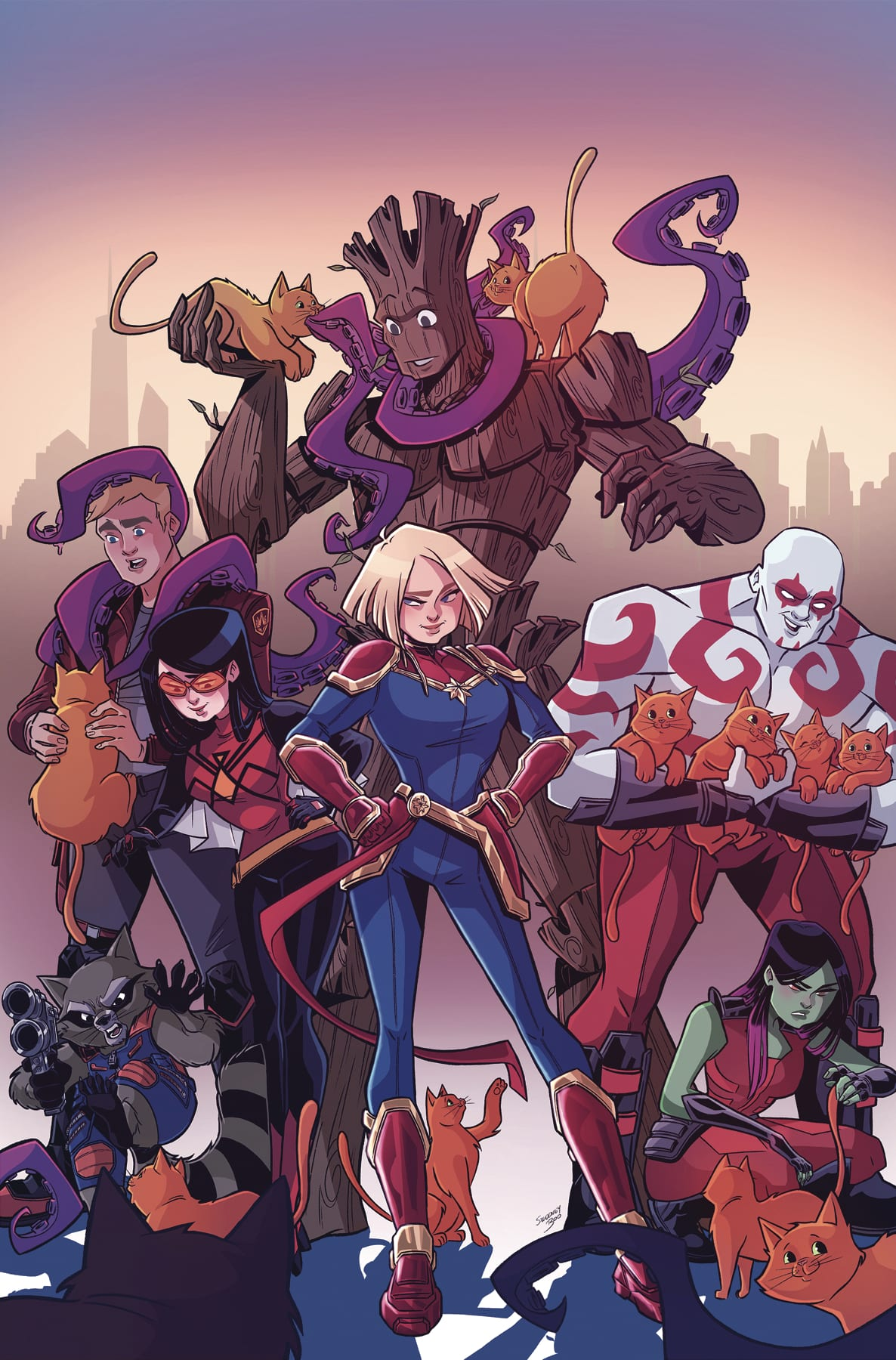 How to Weaponize Cuteness in MARVEL ACTION CAPTAIN MARVEL #2 3