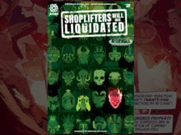 shoplifters will be liquidated exclusive preview aftershock comics