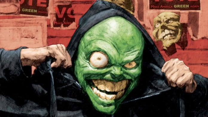 THE MASK: I PLEDGE ALLEGIANCE TO THE MASK #1 main cover artwork