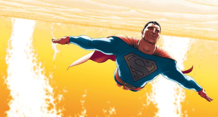 Superman Flying Near the Sun