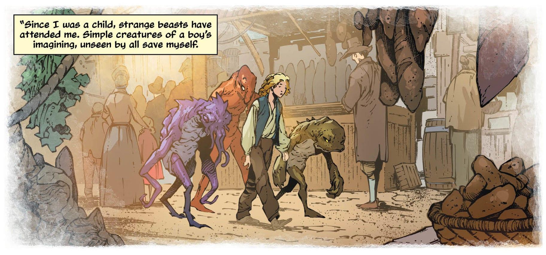 Maurer imagines beasts as a boy