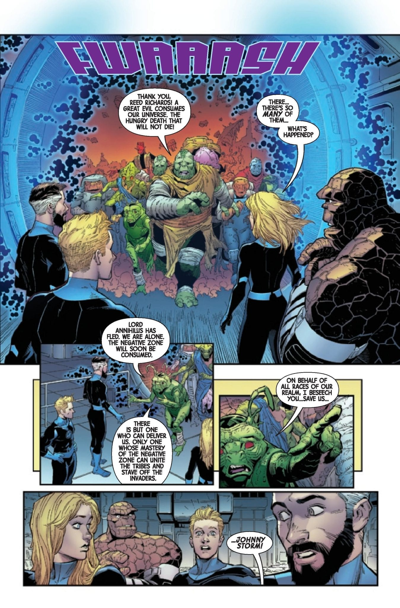 Exclusive Preview Annihilation – Scourge: Fantastic Four 1