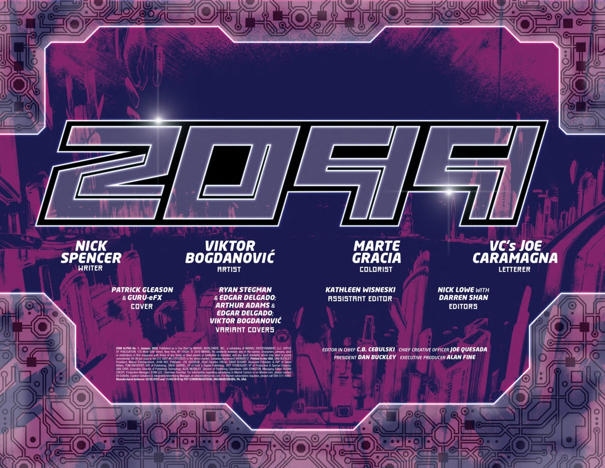 marvel comics 2099 alpha #1 exclusive preview