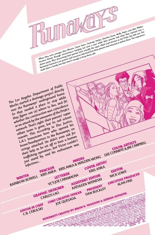 RUNAWAYS #27 Brings Us A New Team Leader? 4
