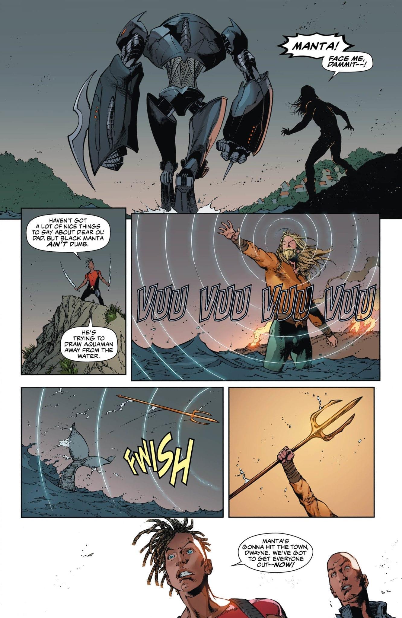 Black Manta's destruction