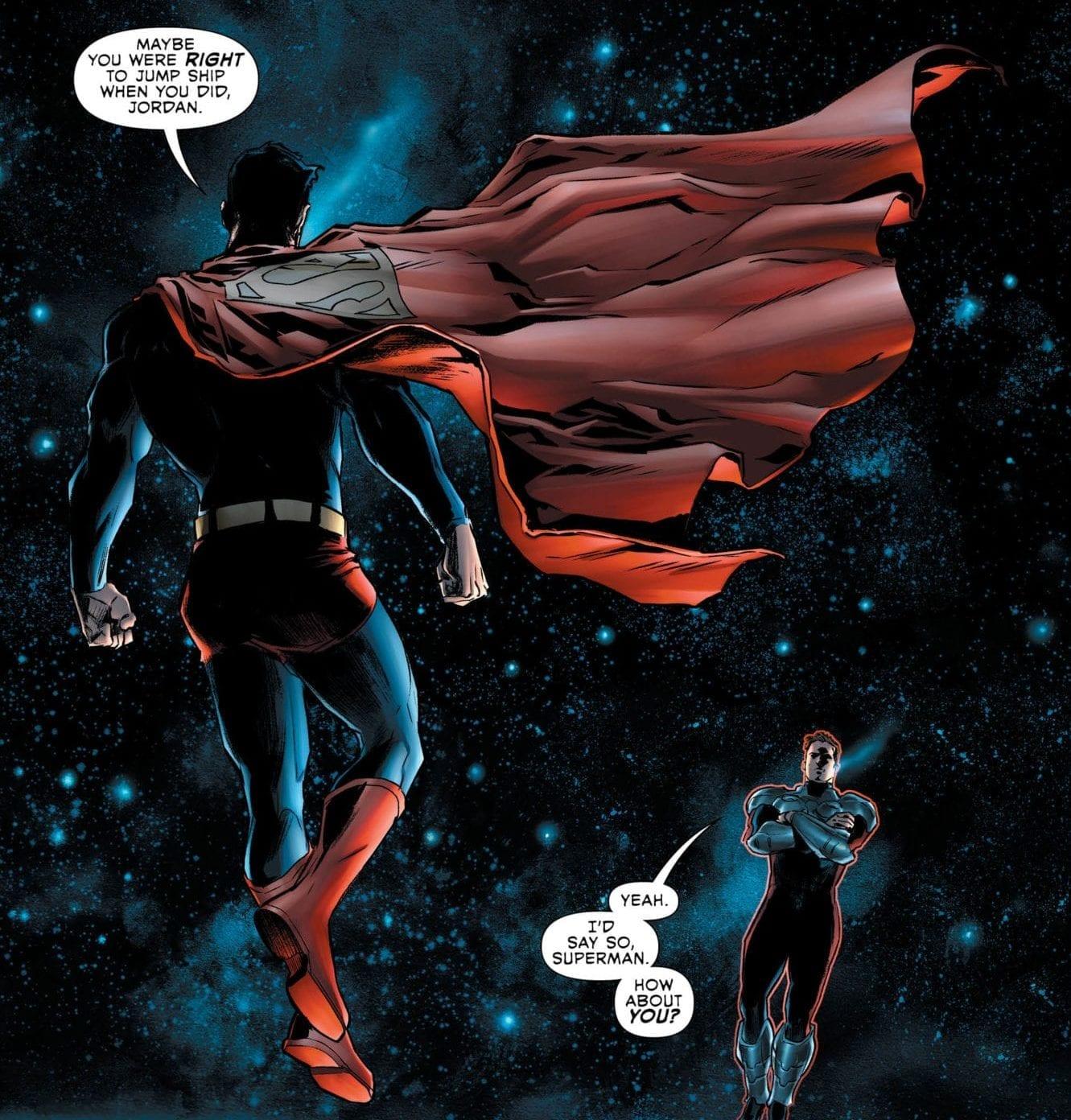 Superman speaks with Hal