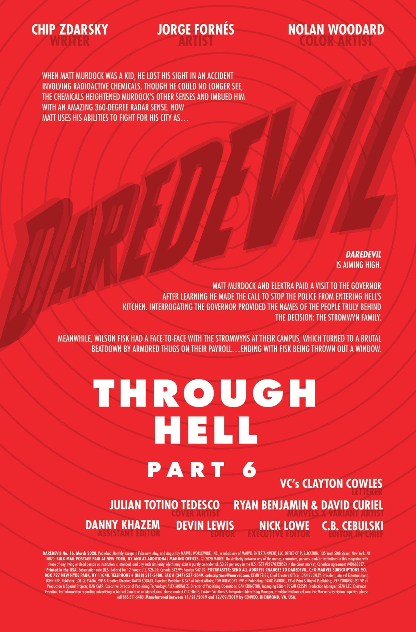 Exclusive Christmas Preview: DAREDEVIL #16