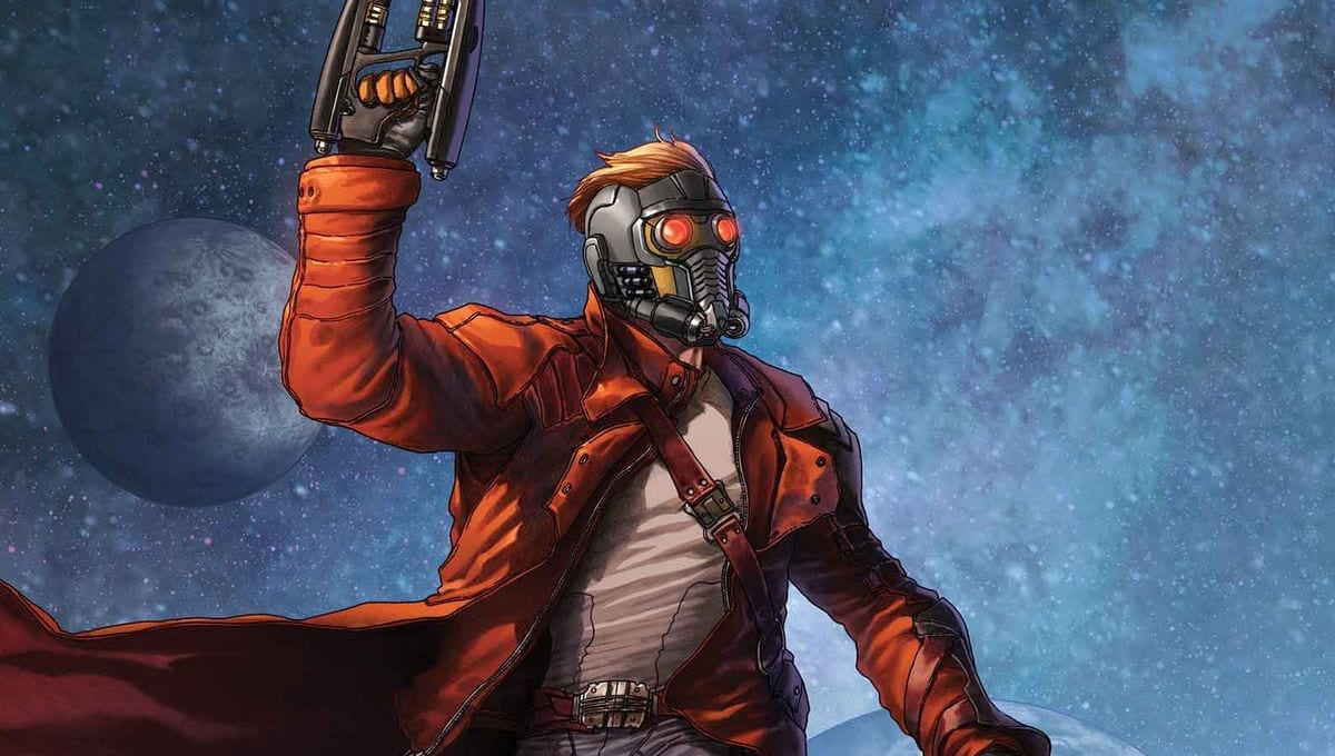 Picture of Star-Lord in front of a space background