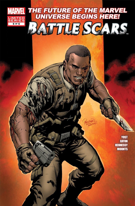 Battle Scars Nick Fury that resembles film adaptation