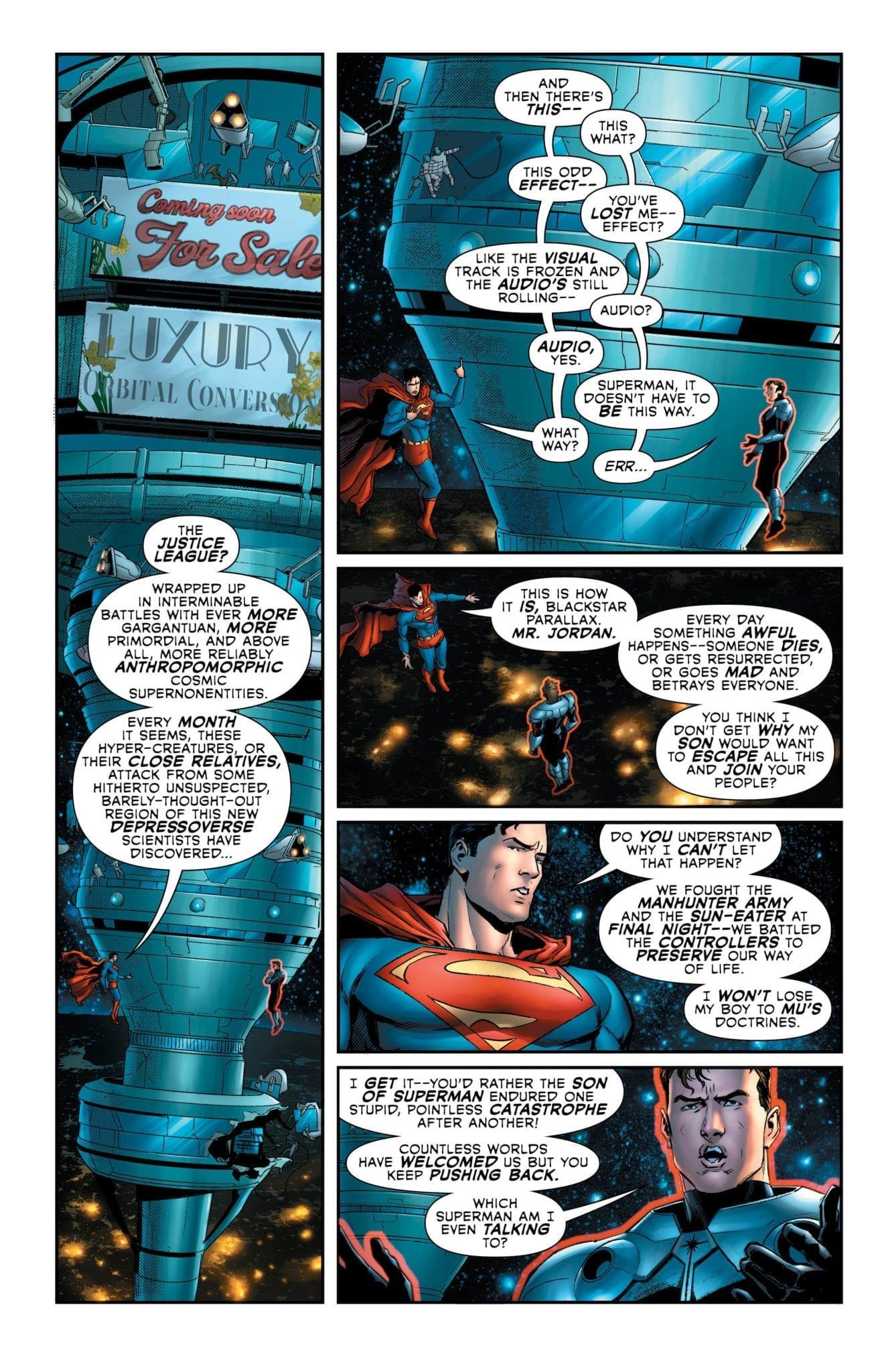 Superman speaks with Blackstar Parallax