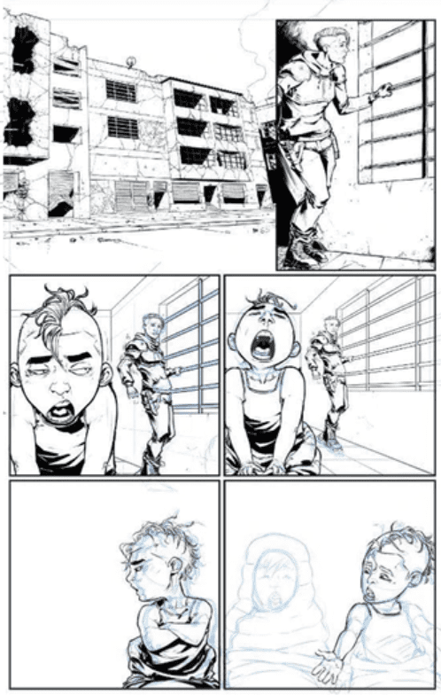 Wretches #3 process by Salo Farias