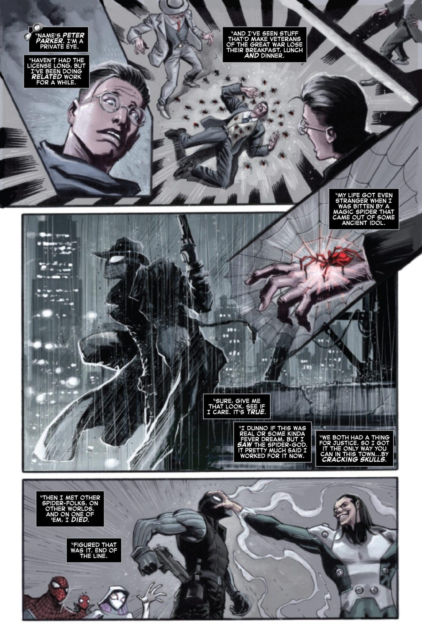 marvel comics exclusive preview spider-verse #5 spider-man noir