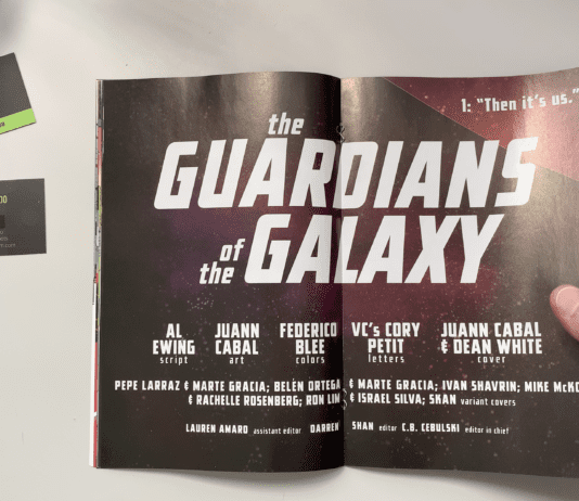 Panel Breakdown: GUARDIANS OF THE GALAXY #1 Al Ewing, Juann Cabal & Federico Blee