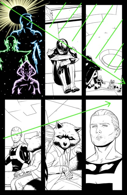 Juann Cabal Explains His Panel Structure For GUARDIANS OF THE GALAXY #1