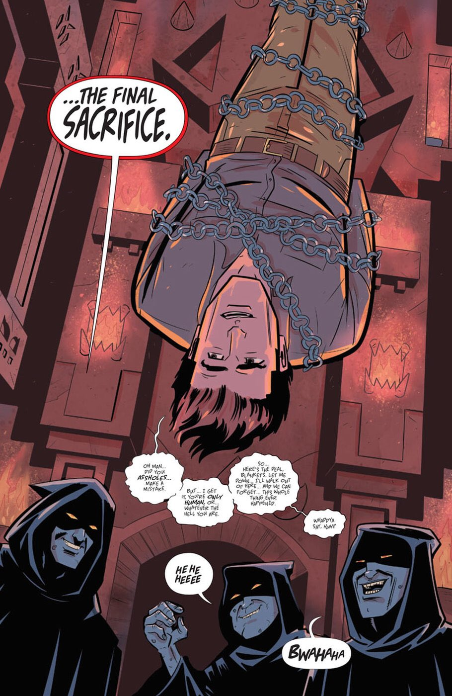 Ash just hanging out in Death to The Army of Darkness #1