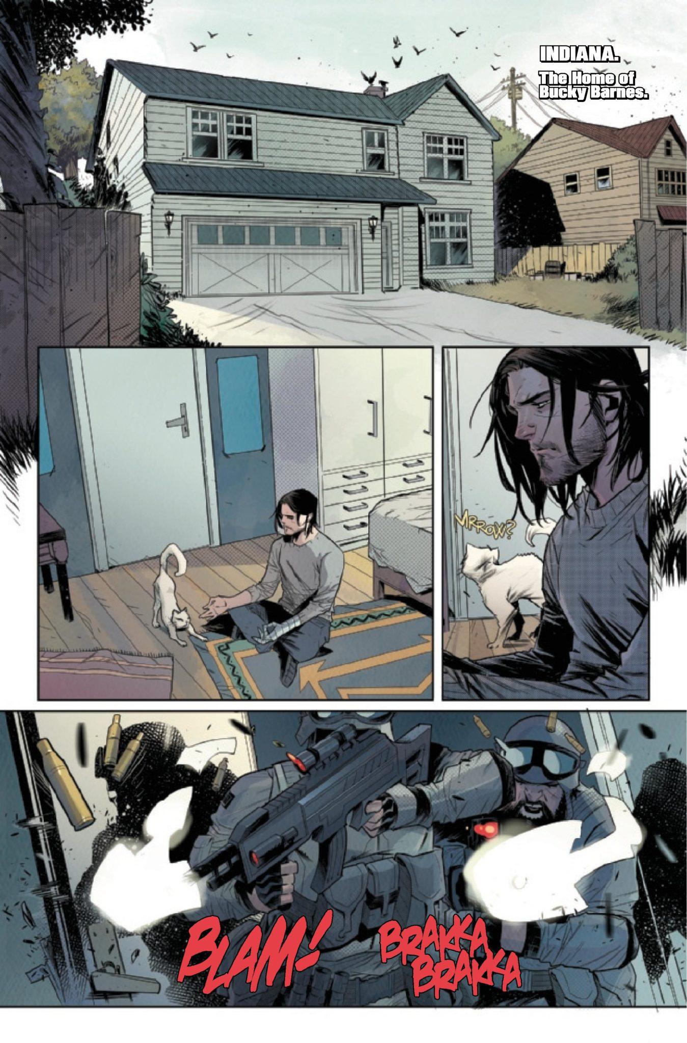 Falcon & Winter Soldier #1 Bucky Home