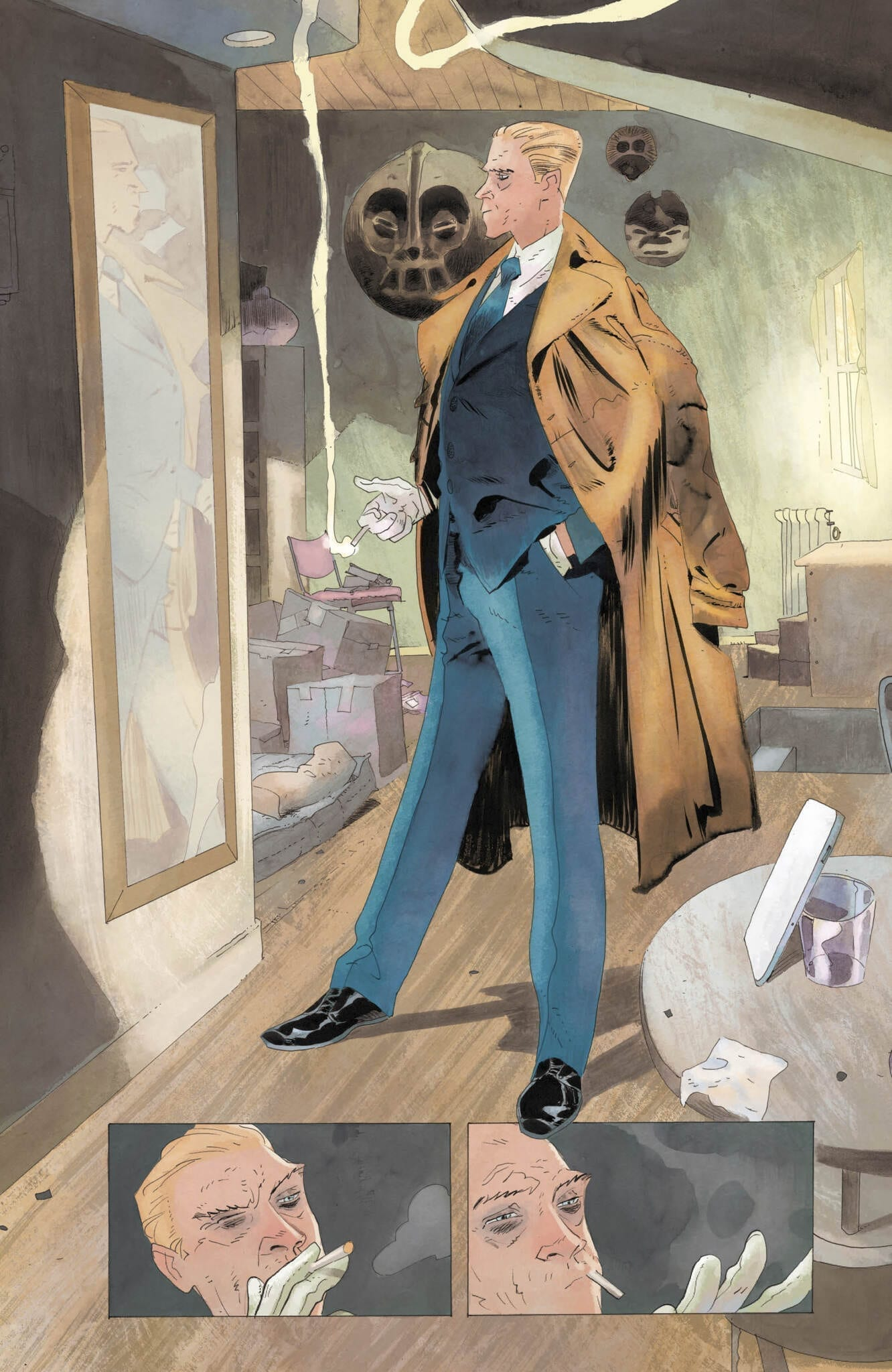 Cosntantine looking dapper in Hellblazer #4.